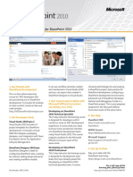 Sharepoint 2010 Developer IT Pro Learning Guide 101909