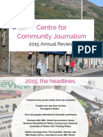 Centre for Community Journalism Annual Review 2015