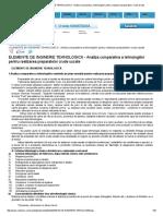 ELEMENTE de INGINERIE TEHNOLOGICA - Analiza Comparativa a Tehnologiilor Pentru Realizarea Preparatelor Crude Uscate
