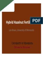 Fertilizing Hazelnuts