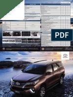 Ficha técnica y de equipamiento Toyota SW4