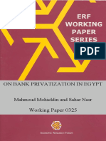 Banking privatization in Egypt
