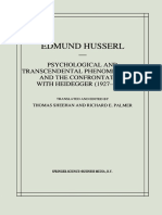 (Husserliana_ Edmund Husserl — Collected Works, Vol. 6) Edmund Husserl (Auth.), Thomas Sheehan, Richard E. Palmer (Eds.)-Psychological and Transcendental Phenomenology and the Confrontation With Heide