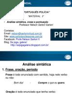 MATERIAL 3 - Análise Sintática - Crase e Pontuação