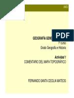 Orientaciones Comentario Mapa Topográfico