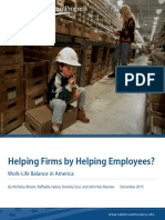 Helping Firms by Helping Employees? Work-Life Balance in America