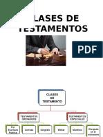 CLASES DE TESTAMENTOS