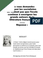 L'Islam et les auteurs de la littérature française