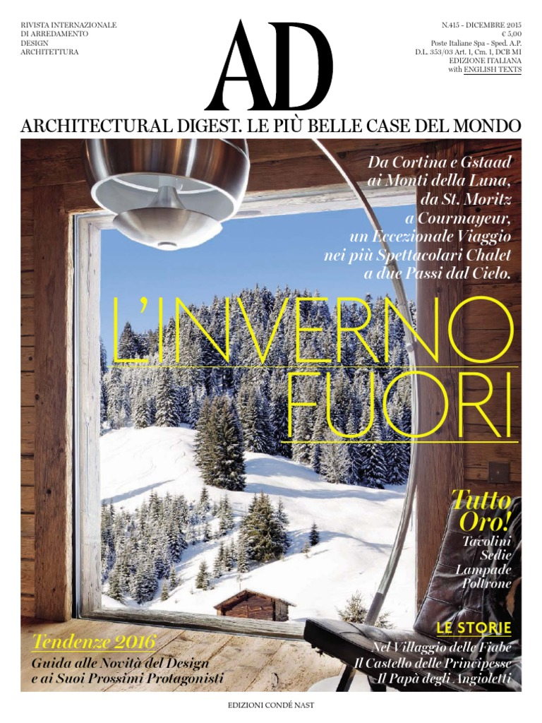 12. AD Architectural Digest - Dicembre 2015 10a918f3831