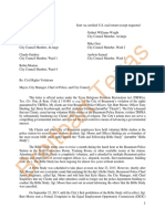 Lawyer Briscoe Cain's TRFRA Notice Letter to City of Beaumont