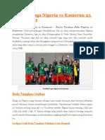 Prediksi Nigeria vs Kamerun 23 Desember 2015