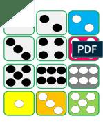 Cartões Emparelhar Números e Quantidades Iguais Até 6