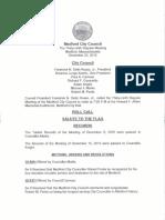Medford City Council Agenda December 22, 2015