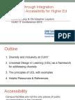 Center for Digital Education CUNYIT15 presentation - Innovation Through Integration - Levy Leydon