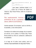 03 08 2014-Ceremonia Luctuosa por la caída en cumplimiento de su deber de policía