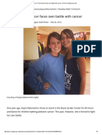 former thon dancer faces own battle with cancer   thon   collegian psu