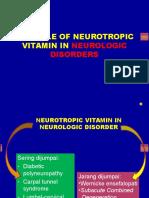 Role of Neurotropic Vitamin