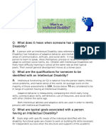 intellectual disablities q and a pamphlet