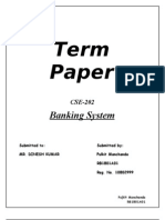 Banking Term Paper