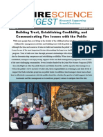 Building Trust, Establishing Credibility,and Communicating Fire Issues with the Public