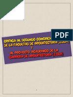 CRÍTICA AL SEGUNDO CONGRESO DE LA FACULTAD DE ARQUITECTURA (2.004)