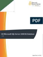 CIS Microsoft SQL Server 2008 R2 Database Engine Benchmark v1.0.0