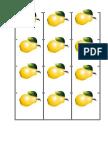Jetoane fructe de toamnă
