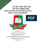 El Estilo de Vida de Los Adultos Mayores Del Hogar de Ancianos Santa Ana y San Joaquín