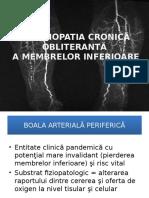 Arteriopatia Cronica Obliteranta a Membrelor Inferioare