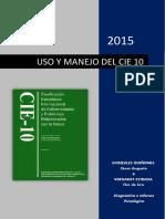 USO Y MANEJO DEL CIE 10