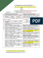 Penales - Modelo 1 - Matriz de Consistencia Logica