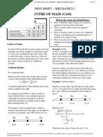 Edexcel M2 Revision Sheets