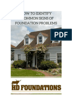 How to Identify 8 Common Signs of Foundation Problems in Houses or Commercial Buildings