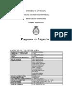 Plan Docente de La Asignatura de Clínica Integral Vigente