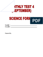 Ujian Bulanan September Sains t4