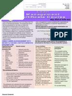 Lean Management Certificate Course