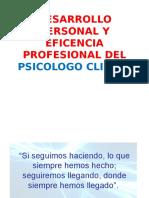 Desarrollo y Formacion Personal Para en Trabajo Social
