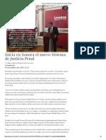 15-12-15 Inicia en Sonora el nuevo Sistema de Justicia Penal - Dossier Político