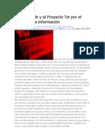 La Deep Web y El Proyecto Tor Por El Derecho a La Información