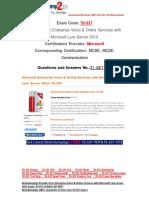 [FREE]Braindump2go Latest 70-337 VCE Guarantee 100% Pass 31-40