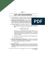 Unit and Measurement Class XI