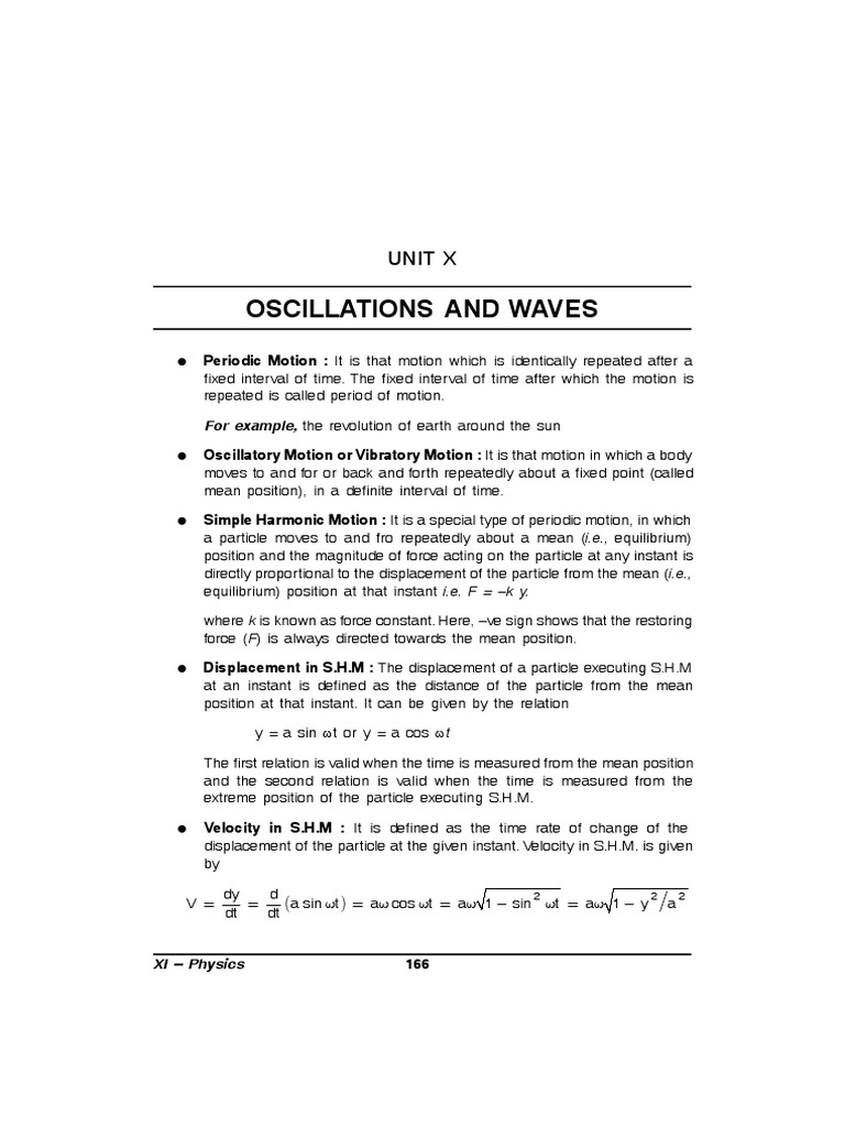 Oscillations and Waves Class XI | Waves | Sound