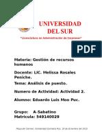Formato de Entrega de Una Presentacion UNIVERSIDAD DEL SUR