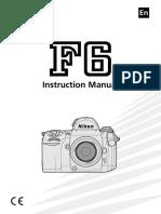 nikon f6 Manual english
