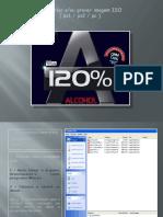 Como gravar imagens ISO com o Alcohol 120