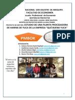 Gestion de Proyecto Planta Procesadora de Harina de Yuca