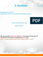 CFA Level I summary