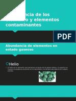 Abundancia de Los Elemento y Elementos Contaminantes