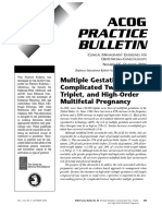 ACOG SMFM Joint Practice Bulletin Multiple Gestation 2004
