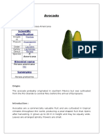 Avocado Proximate analysis